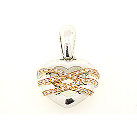 Chimento 18K White Gold, 18K Rose Gold Diamond Pendant
