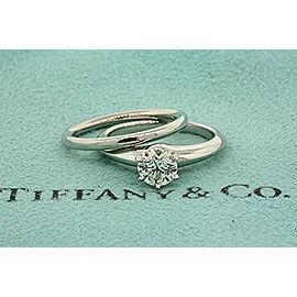 Tiffany & Co. Platinum Diamond Engagement Ring Size 4