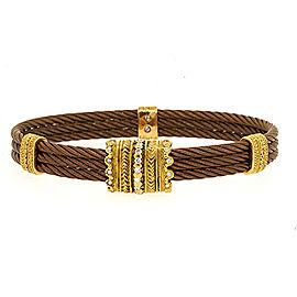 Charriol 18K Yellow Gold Diamond Bracelet