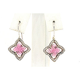 David Yurman Sterling Silver Tourmaline, Diamond Earrings