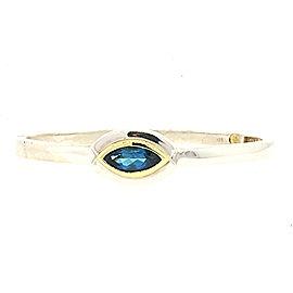 Movado 18K Yellow Gold, Sterling Silver Topaz Bracelet