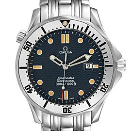 Omega Seamaster 300m Blue Wave Dial 41mm Mens Watch 2542.80.00
