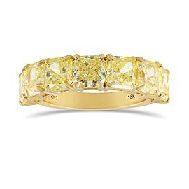 Leibish 18K Yellow Gold with 6.12ctw Diamond Band Ring Size 6.5