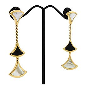 Bulgari 18K Rose Gold Onyx, Mother Of Pearl, Pearl Earrings