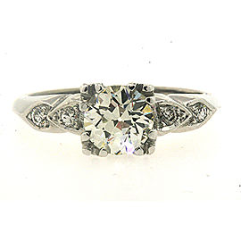 14K White Gold Diamond Engagement Ring Size 6.75