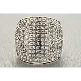 18K White Gold Diamond Ring Size 7.25