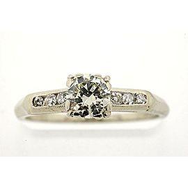 14K White Gold Diamond Engagement Ring Size 5.5