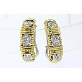 Roberto Coin 18K White Gold, 18K Yellow Gold Diamond Earrings