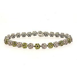 Gregg Ruth 18K White Gold Diamond Bracelet