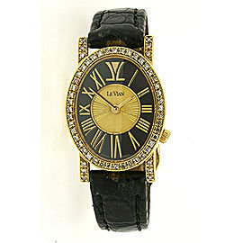 Levian Centurian Watch Solid 18k Yellow Gold Limited Edition 10/99 Diamond