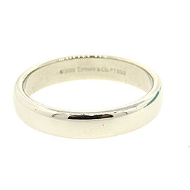 Tiffany & Co. Lucida Wedding Band 1999 4.5mm Classic Plain Platinum Ring 8.5
