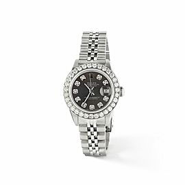 Rolex Datejust Steel 26mm Jubilee Watch Rhodium Grey 1.3CT Diamond Bezel & Dial
