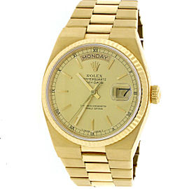 Rolex Day-Date Oysterquartz 18K Yellow Gold 36mm Watch