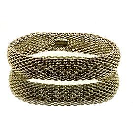 """Tiffany & Co. Somerset Mesh Bracelet 7.25"""" 15mm wide"""