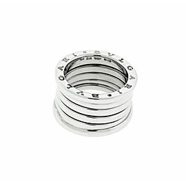 BVLGARI women's B.ZERO1 5 band ring in 18K white gold - size US 11.25 - Italy 65