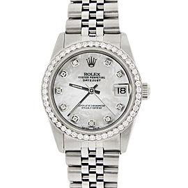 Rolex Datejust 31mm S/S Jubilee Womens Watch with MOP Diamond Dial/Diamond Bezel