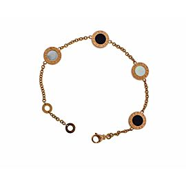 Bulgari Bulgari 350641 onyx & mother of pearl element bracelet 18k rose gold