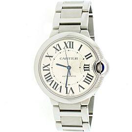 Cartier Ballon Bleu Steel 36mm Automatic Watch W6920046 Box Papers