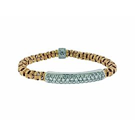 Roberto Coin 18k rose gold Appassionata pave diamond bar Bracelet