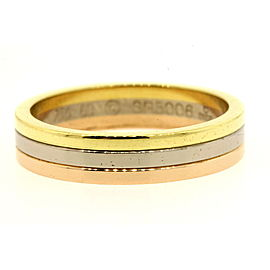 Cartier Trinity 18k Rose White Yellow Gold Ring Wedding Band size 60 US 9.5