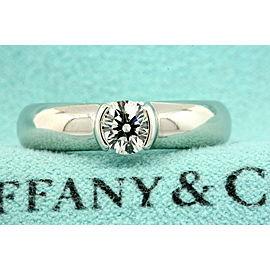 Tiffany & Co. Etoile Platinum .54 Round Diamond Engagement Ring Size 7