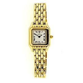 Movado 14k Yellow Gold Watch Tank Square Face Roman Numeral