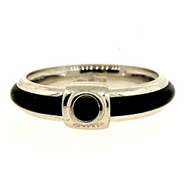 Baraka 18k White Gold Rubber Band ring sz 6.75