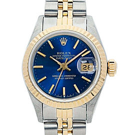 Rolex Datejust 69173 26mmSteel & Yellow Gold Blue Index Women's Automatic