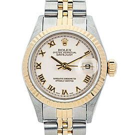 Rolex Datejust 6917 26mmSteel & Yellow Gold White Roman Women's Automatic