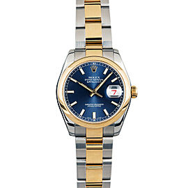 Rolex Datejust 178243 31mmSteel & Yellow Gold Blue Index Women's Automatic