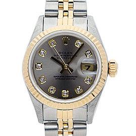Rolex Datejust 6917 26mmSteel & Yellow Gold Silver Diamond Women's Automatic