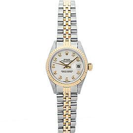 Rolex Datejust 6917 26mmSteel & Yellow Gold White Diamond Women's Automatic