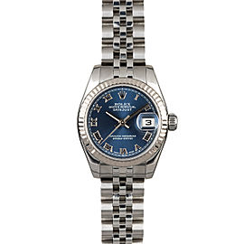 Rolex Datejust 179174 26mmStainless Steel Blue Roman Women's Automatic