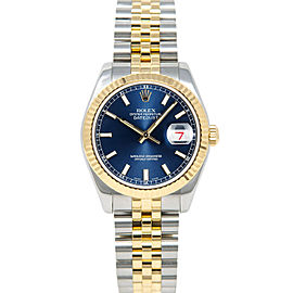 Rolex Datejust 178273 31mmSteel & Yellow Gold Blue Index Women's Automatic