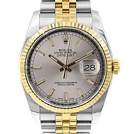 Rolex Datejust 116233 36mmSteel & Yellow Gold Silver Index Women's Automatic