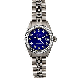 Rolex Datejust 6916 26mmStainless Steel Blue Diamond Women's Automatic