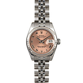 Rolex Datejust 179174 26mmStainless Steel Salmon Roman Women's Automatic