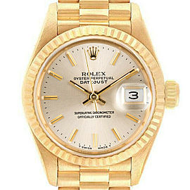 Rolex Datejust 69178 26mmYellow Gold Silver Index Women's Automatic