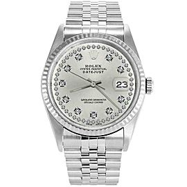 Rolex Datejust 16234 36mmStainless Steel Silver Diamond Women's Automatic