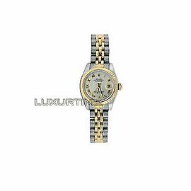Rolex Datejust 179173 26mmSteel & Yellow Gold White Mother of Pearl Women's