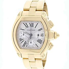 Cartier Roadster Chronograph XL Yellow Gold 43mm Roman Dial W62021Y2 Box&Papers