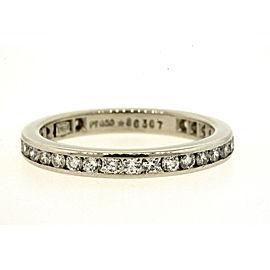 Harry Winston Diamond Eternity Band Ring Platinum .87ct Channel Set size 6