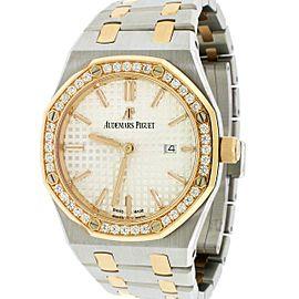 Audemars Piguet Ladies Royal Oak 18K Rose Gold/SS 33mm Watch