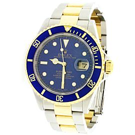 Rolex Submariner 2-Tone Ceramic Bezel Blue Dial Mens Watch Box Papers