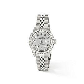 Rolex Datejust Steel 26mm Jubilee Watch Silver 1.3CT Diamond Bezel & Dial