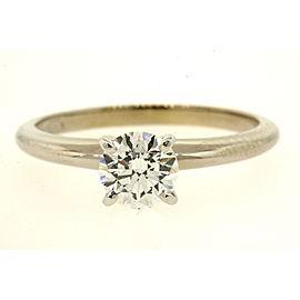 Blue Nile Diamond Solitaire Engagement Ring .74ct E VVS2 XXX GIA $7650 retail