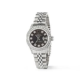 Rolex Datejust 26mm Steel Jubilee Diamond Watch w/Rhodium Grey Dial