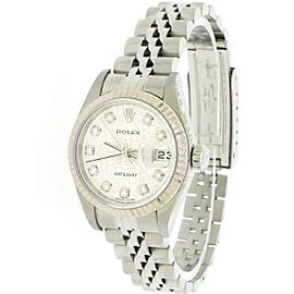 Rolex Datejust 26mm White Gold/Steel Diamond Jubilee Dial Watch Box Papers