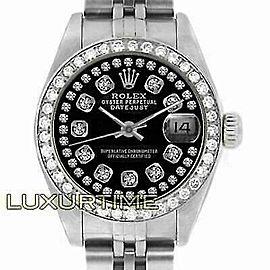 Rolex Datejust 26mm 6916 Women's Black White Gold 26mm Automatic 1 Year Warranty
