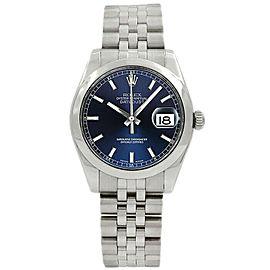 Rolex Datejust 31mm 178240 Women's Blue Index Steel 31mm 1 Year Warranty